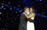 President Barack Obama (Dancing with Michelle Obama) Art Poster Print Masterprint