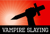 Vampire Slaying Red Poster Print