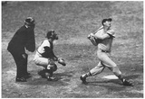 Ted Williams Long Ball Boston Red Sox Archival Photo Sports Poster Print