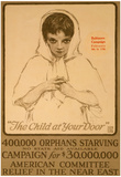 American Committee Orphan Relief in Near East War Propaganda Vintage Ad Poster Print