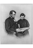 Abraham Lincoln (Reading with Son Tad) Art Poster Print