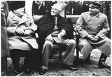 Leaders of World War 2 (Winston Churchill, Franklin Roosevelt, Stalin) Archival Photo Poster