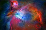 Orion Nebula Enhanced Space Photo Poster Print
