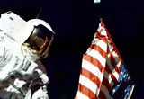 Buy Moon Landing Astronaut with Flag Archival Photo Poster Print at AllPosters.com