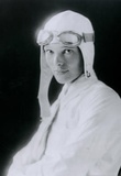 Amelia Earhart in White Archival Photo Poster Print