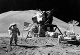Buy Moon Landing Salute Black White Archival Photo Poster Print at AllPosters.com