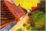 Vincent Van Gogh Street in Saintes-Maries Art Print Poster