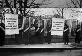 Women Suffragists (Picketing in Front of White House) Art Poster Print