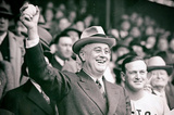 President Franklin Delano Roosevelt First Pitch Archival Photo Poster Print