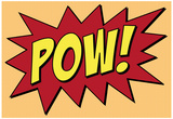 Pow Comic Pop-Art Art Print Poster