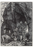 Albrecht Altdorfer (St. Jerome in the rock grotto) Art Poster Print