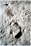 Buy Moon Landing Astronaut Footprint Archival Photo Poster Print at AllPosters.com