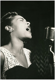 Billie Holiday Signing Archival Photo Music Poster Print