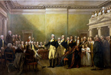 John Trumbull General George Washington Resigning His Commission Art Print Poster