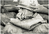 US Soldier In God We Trust Archival Photo Poster Print