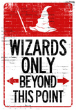 Buy Wizards Only Beyond This Point Sign Poster at AllPosters.com