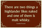 Scottish Proverb Things a Highlander Likes Naked Art Poster Print