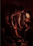 Georges de La Tour (St. Joseph as a carpenter) Art Poster Print