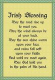 Irish Blessing Art Print Poster
