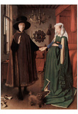 Jan van Eyck (Arnolfini Wedding, Wedding Picture of Giovanni Arnolfini and his wife Giovanna Cenami