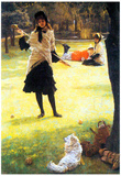 James Tissot Cricket Art Print Poster