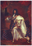 Hyacinthe Rigaud (Portrait of the French King Louis XIV) Art Poster Print