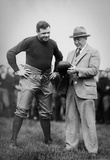 Knute Rockne and Babe Ruth Archival Sports Photo Poster