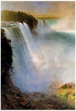 Frederick Edwin Church Niagara Falls from the American Side Art Print Poster