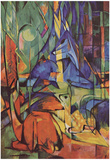 Franz Marc (Deer in the forest (II)) Art Poster Print