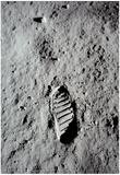 Buy Moon Footprint (Buzz Aldrin Bootprint) Art Poster Print at AllPosters.com
