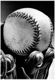 Baseball Glove Archival Photo Sports Poster Print