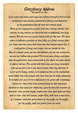 Gettysburg Address Full Text Poster Print