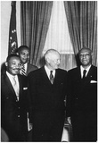 Dwight Eisenhower (With Civil Rights Leaders, 1957) Poster