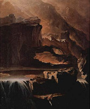 John Martin (Sadak in search of the Waters of Oblivion) Art Poster Print