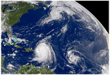 Three Storms From Space Hurrican Irene Photo Print Poster
