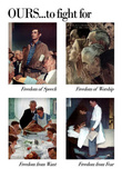 Norman Rockwell Ours to Fight For Series WWII War Propaganda Art Print Poster