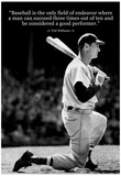 Ted Williams Baseball Famous Quote Archival Photo Poster