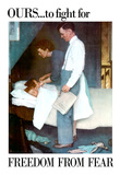 Norman Rockwell Freedom From Fear WWII War Propaganda Art Print Poster