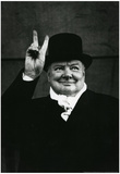 Winston Churchill V For Victory Archival Photo Poster Print