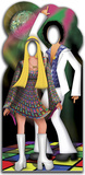 Disco Couple Stand-In Lifesize Standup Cardboard Cutouts