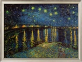 Starry Night Over the Rhone, c.1888 Framed Art Print