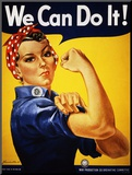 We Can Do It! (Rosie the Riveter) Mounted Print