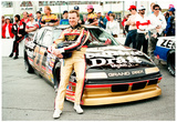 Rusty Wallace with Car and Crew Archival Photo Sports Poster Print