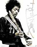 Jimi Hendrix Black & White Mini Poster