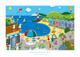 Summertime Bay Art Print
