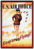 Air Force Keep Em Flying Sexy Girl Tin Sign