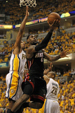 Indianapolis, IN - May 24: Miami Heat and Indiana Pacers - LeBron James, Danny Granger and Leandro
