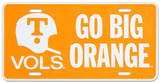 University of Tennessee Go Big Orange License Plate