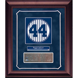 Reggie Jackson Retired Number Monument Park Brick Slice Collage w/ Nameplate