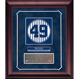 Ron Guidry Retired Number Monument Park Brick Slice Collage w/ Nameplate